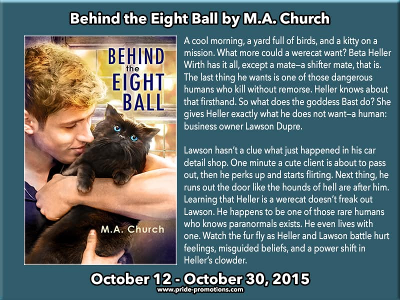 Behind the Eight Ball by M.A. Church banner